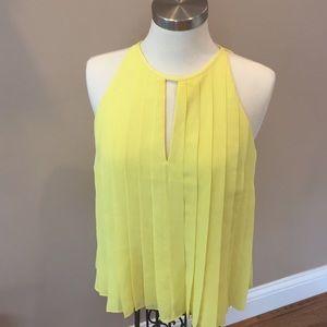 J Crew Sleeveless Yellow Dress Blouse Size 6.